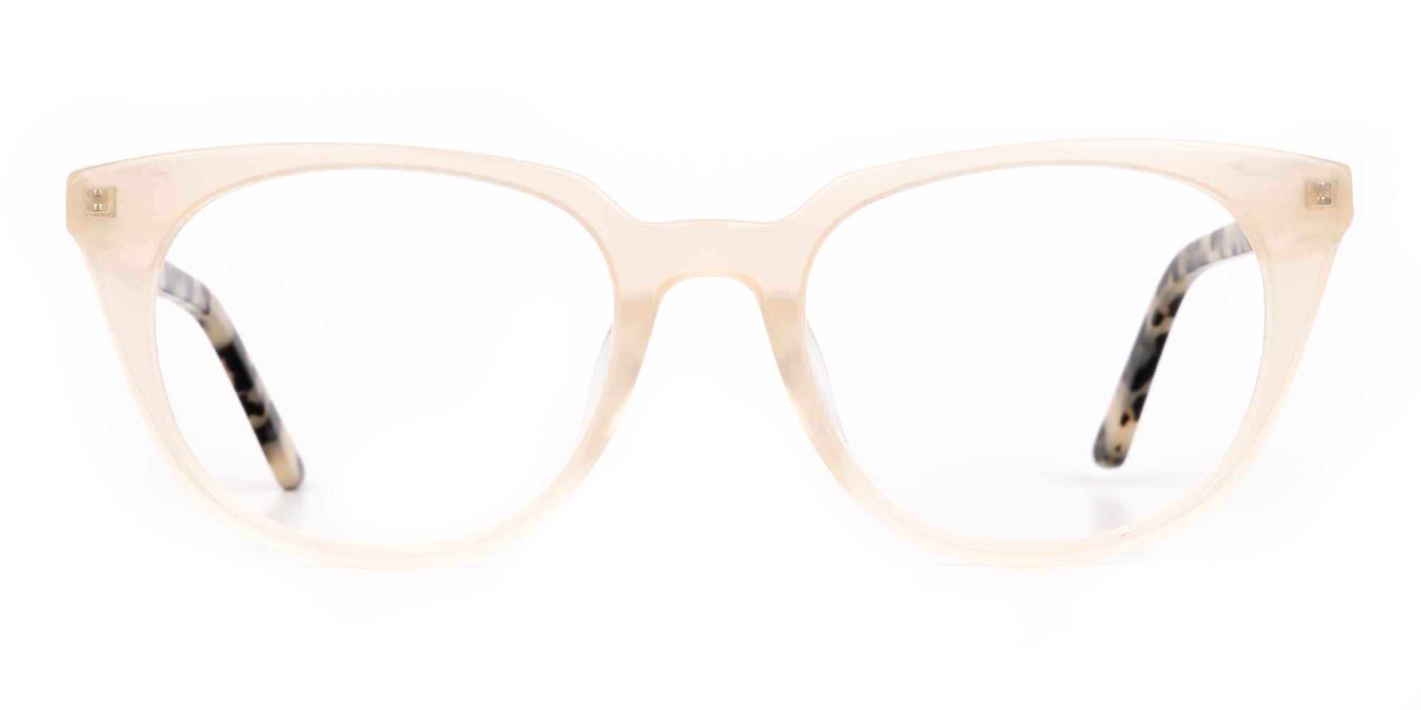 Creamy Brown Translucent Glasses