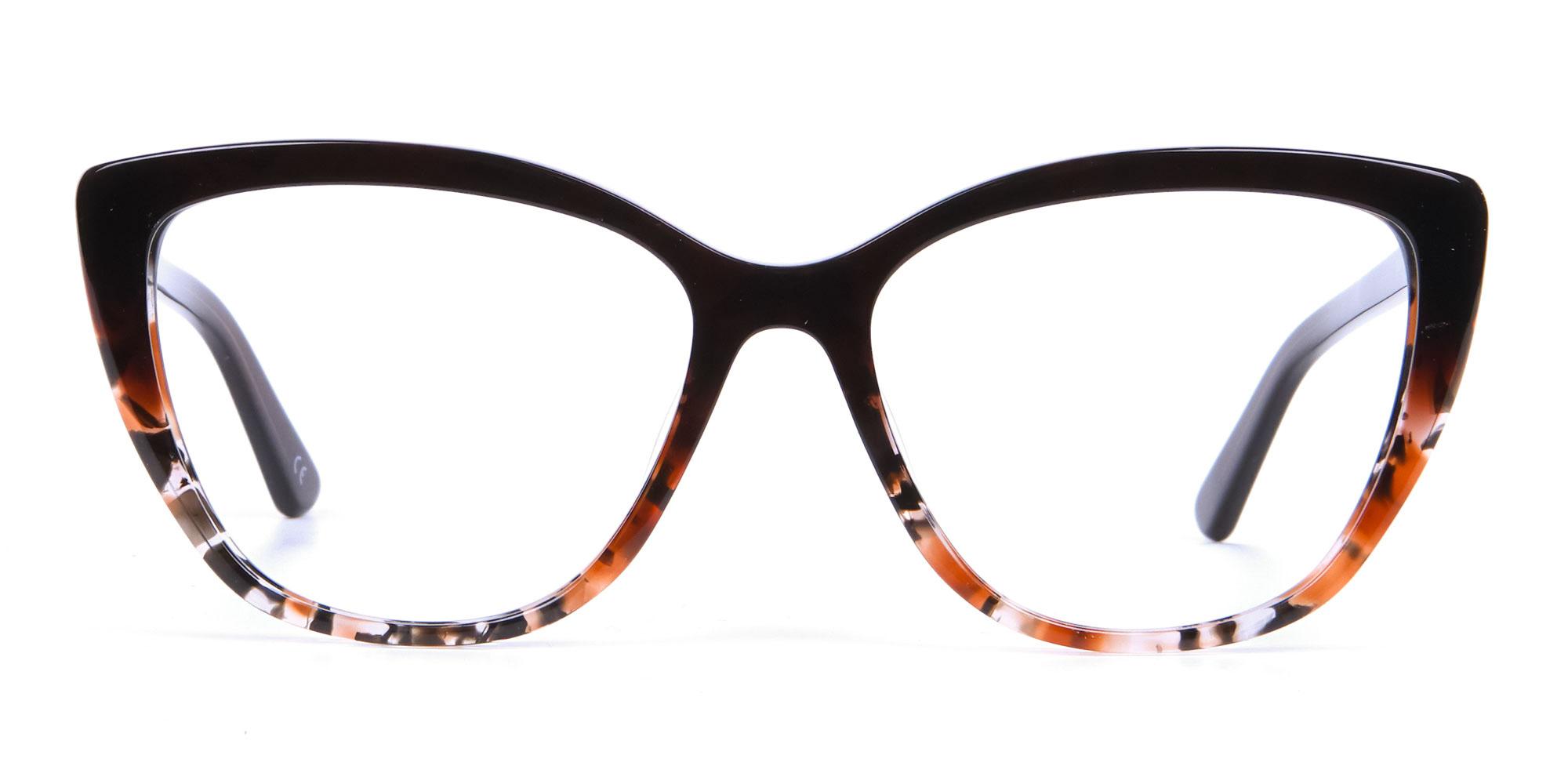 Brown Oversized Tortoiseshell Glasses for triangle face shape