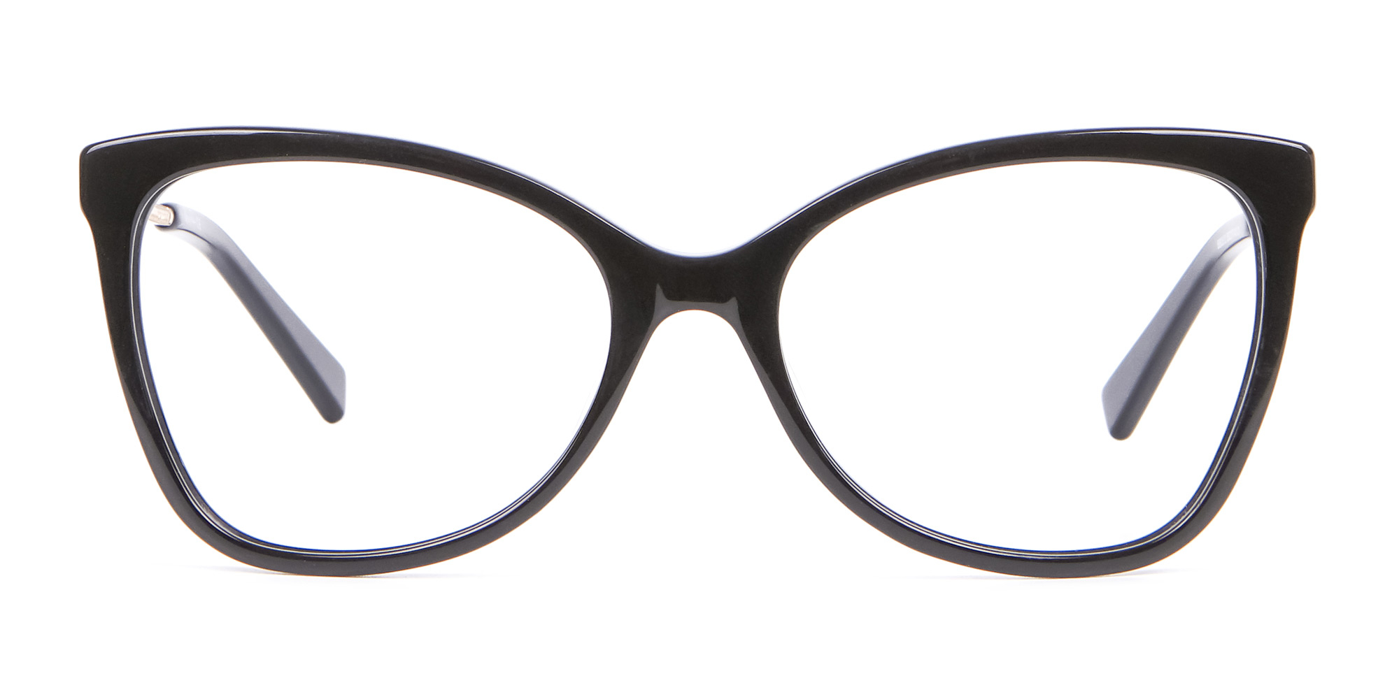 black butterfly glasses for oval face shape