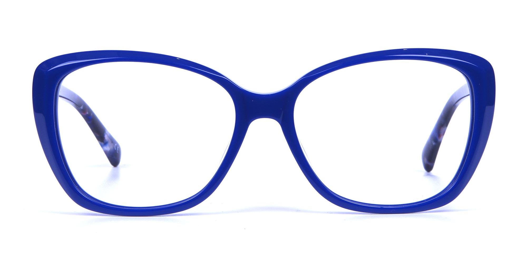 Royal Blue Butterfly Glasses with Tortoise Temple