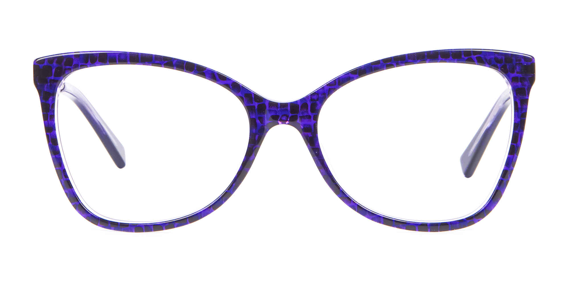 Purple Butterfly Eyeglasses Frame with Patterns