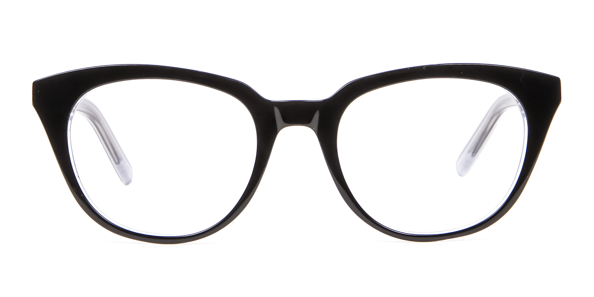 Black and White Cat Eye Glasses for diamond face shape