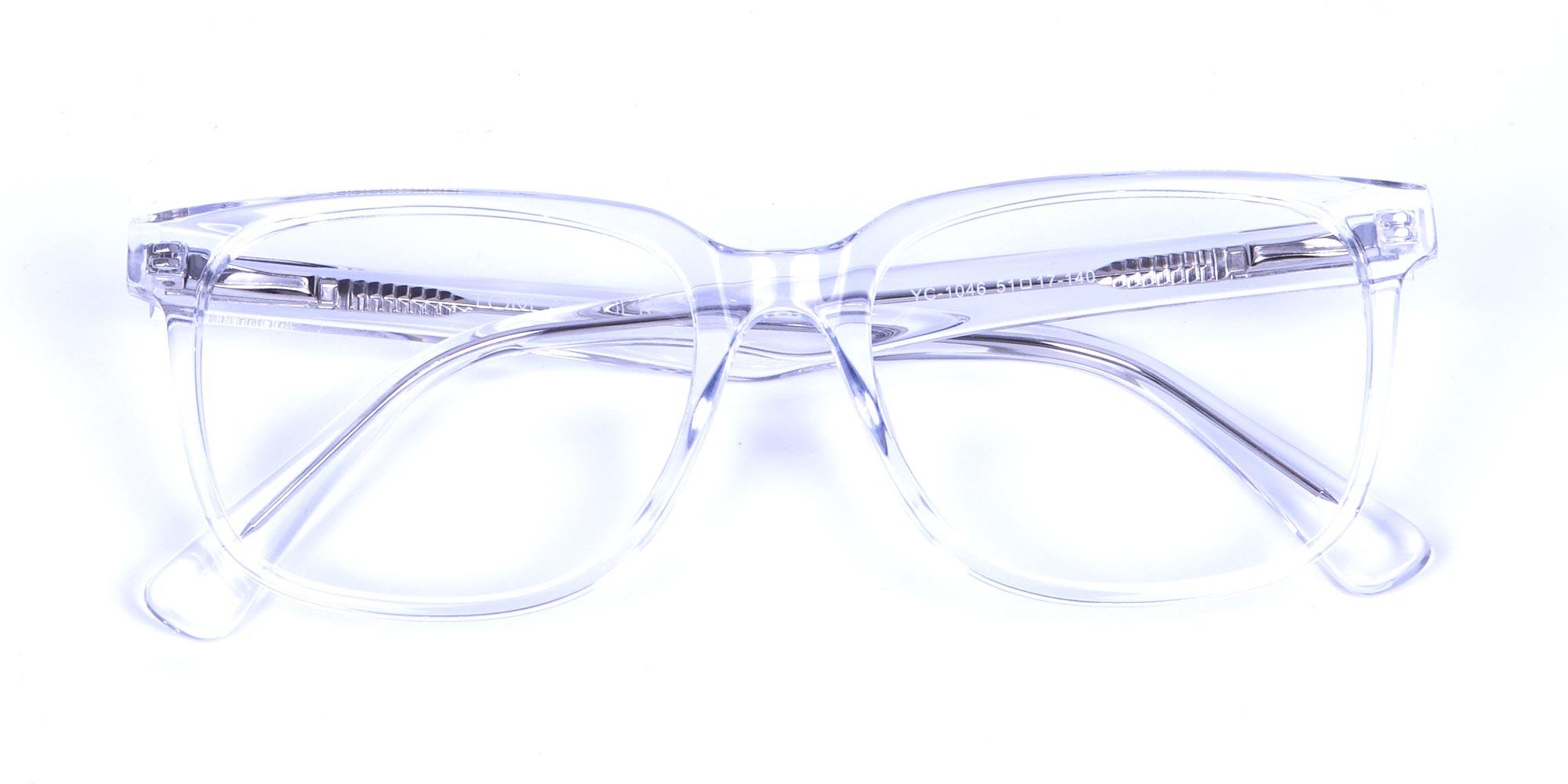 Clear Frame Wayfarer Glasses for Men