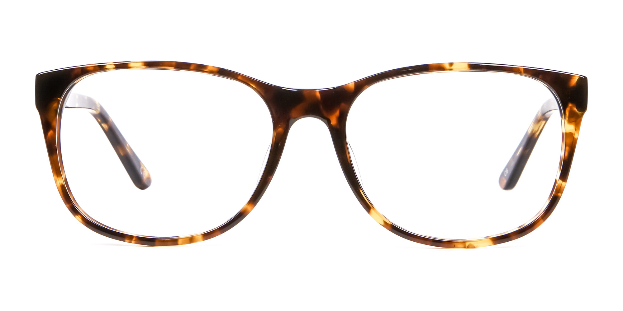 Yellow Tortoise Shell Glasses in Wayfarer