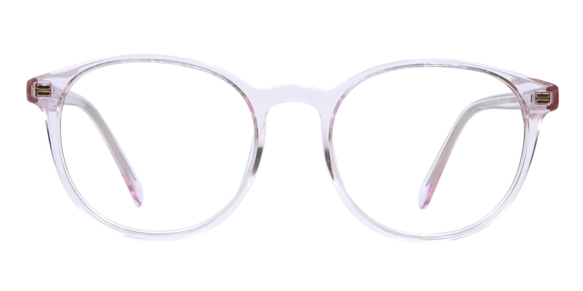 Transparent Pink Glasses for women