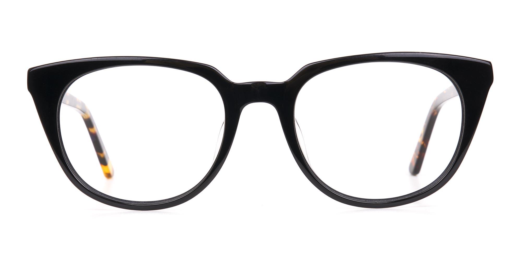 Black Tortoise Cat Eye Glasses for glasses triangle face shape