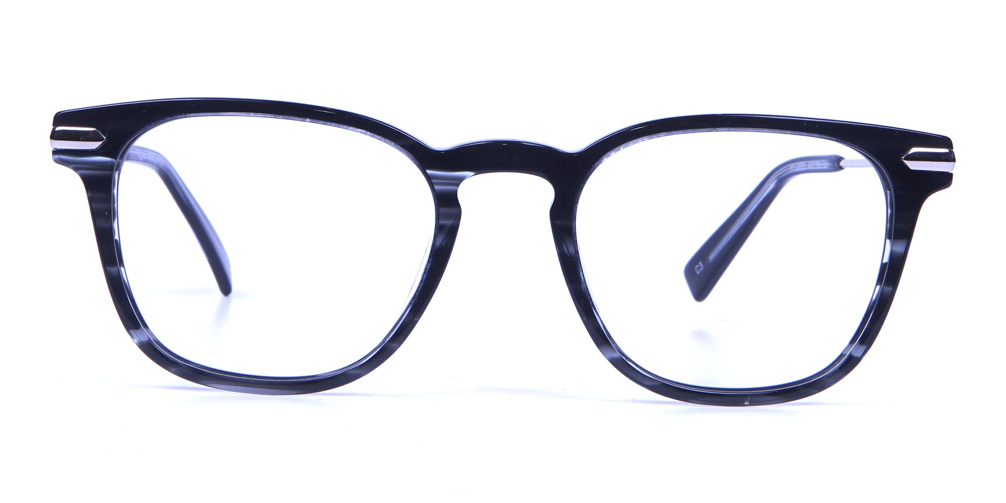 Black and White Striped Glasses