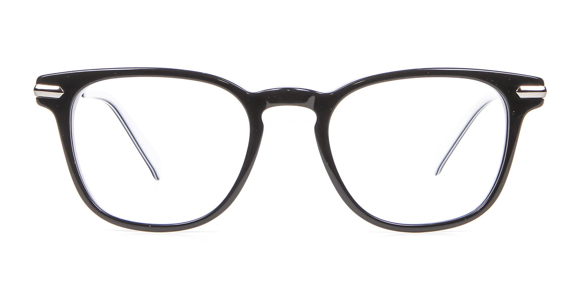 Black and White Hipster Glasses
