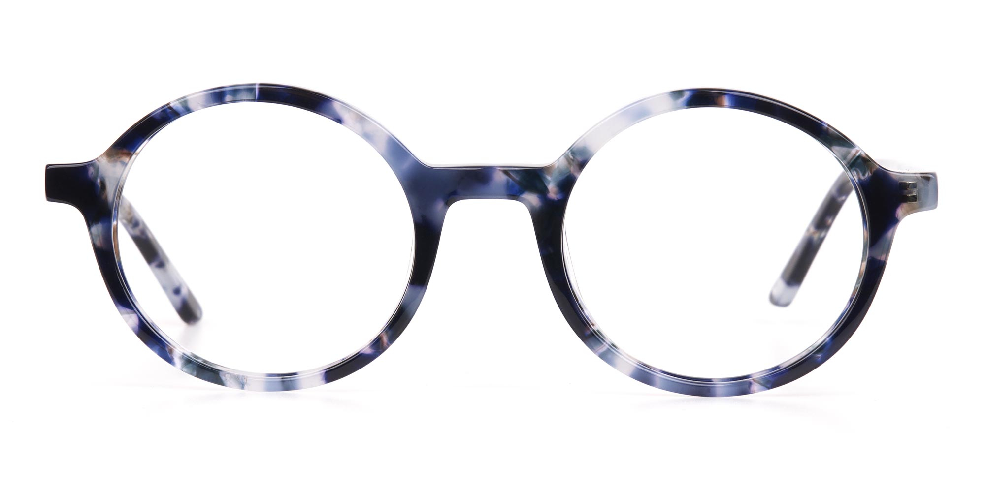 Navy Blue Tortoise glasses for diamond face shape