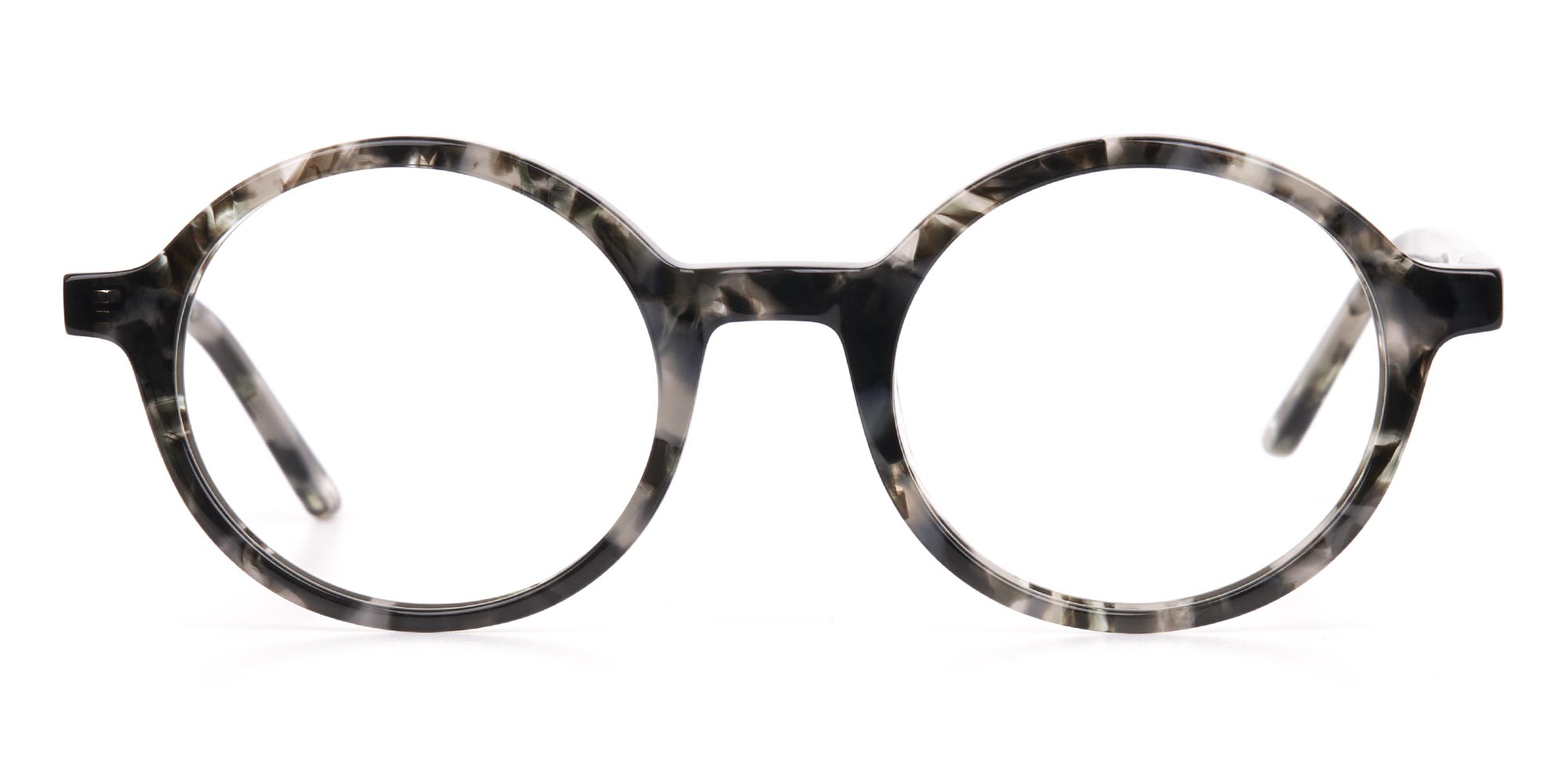Marble Grey Horn Rimmed Glasses for triangle face