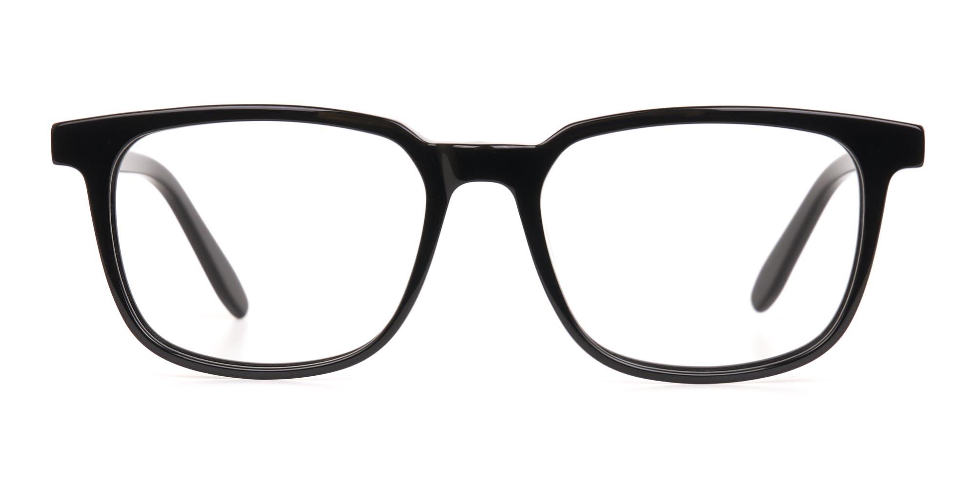 Black Glasses Frame in Rectangle
