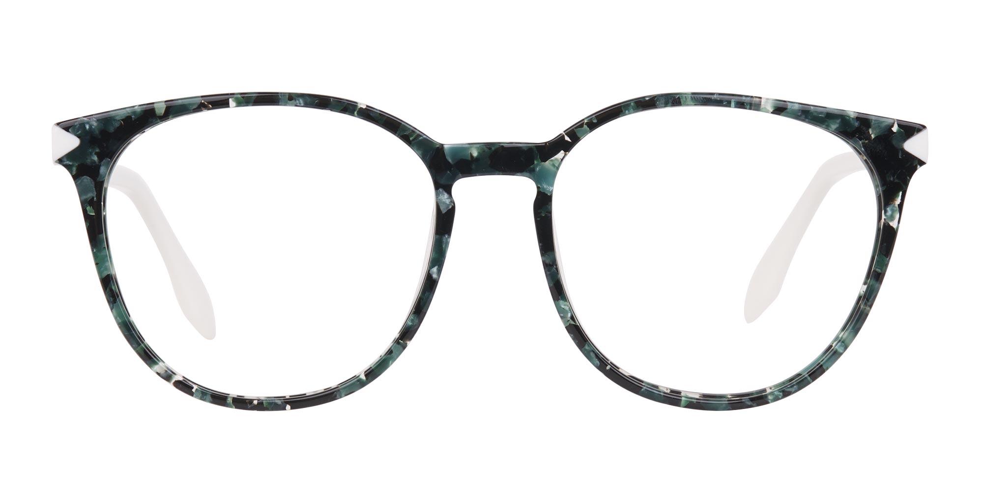 Tortoise Emerald Green Hipster Glasses