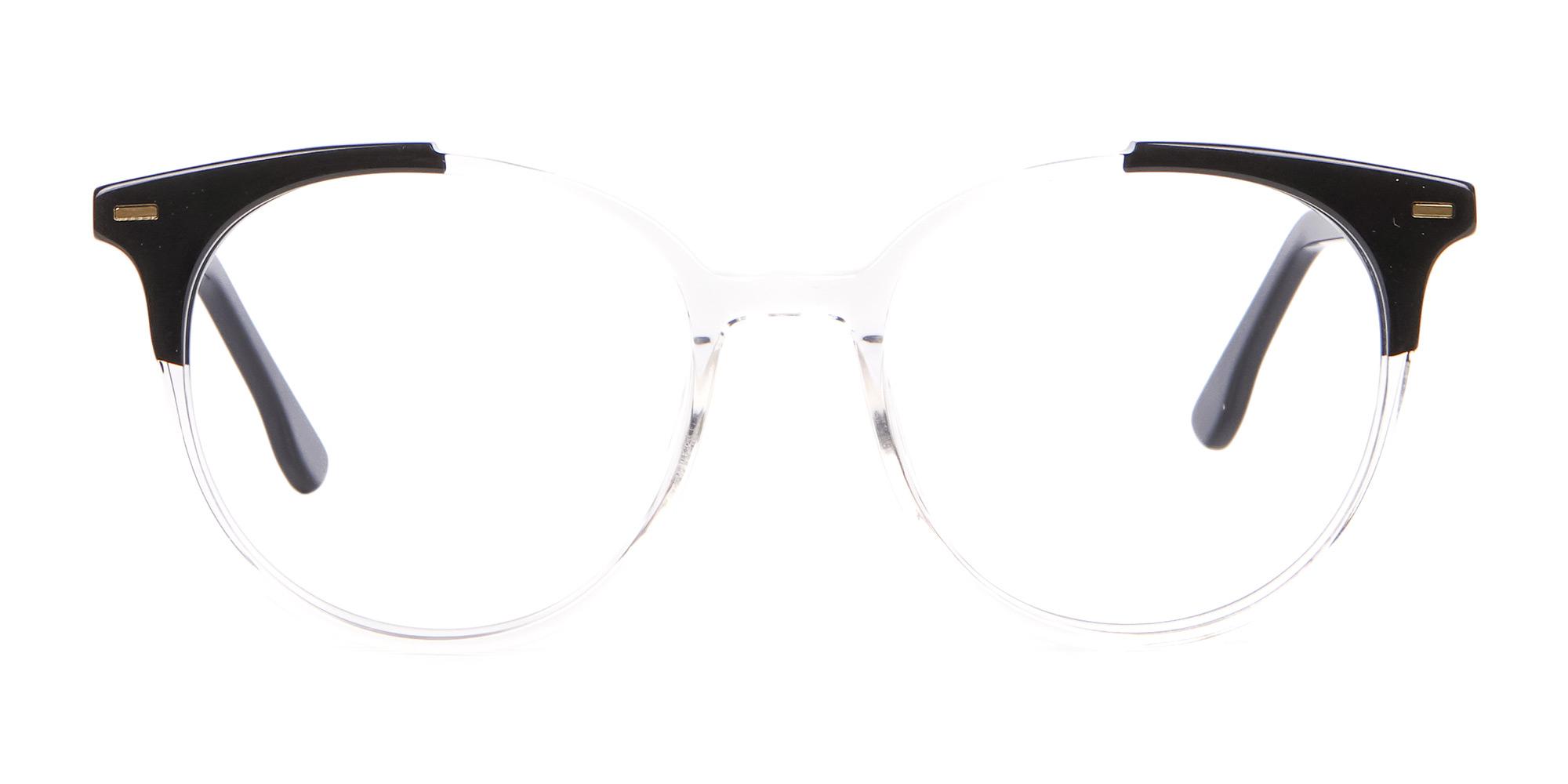 Translucent Black Glasses in Round