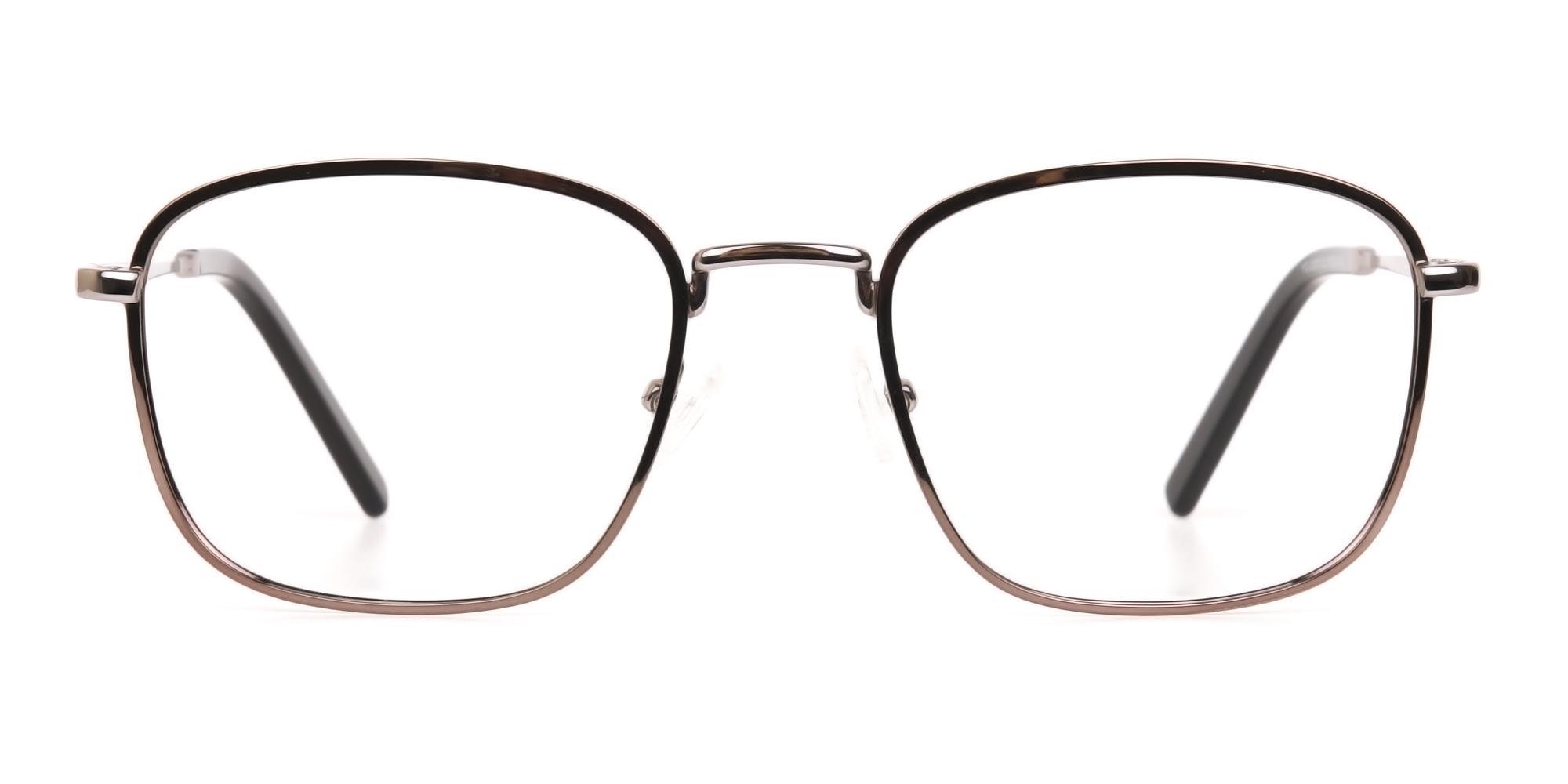 Gunmetal Glasses in Wayfarer for oval face