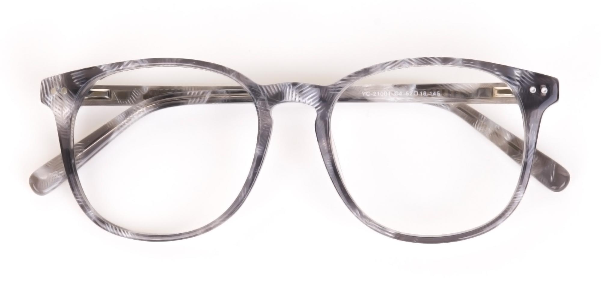 Silver Grey Oversized Glasses