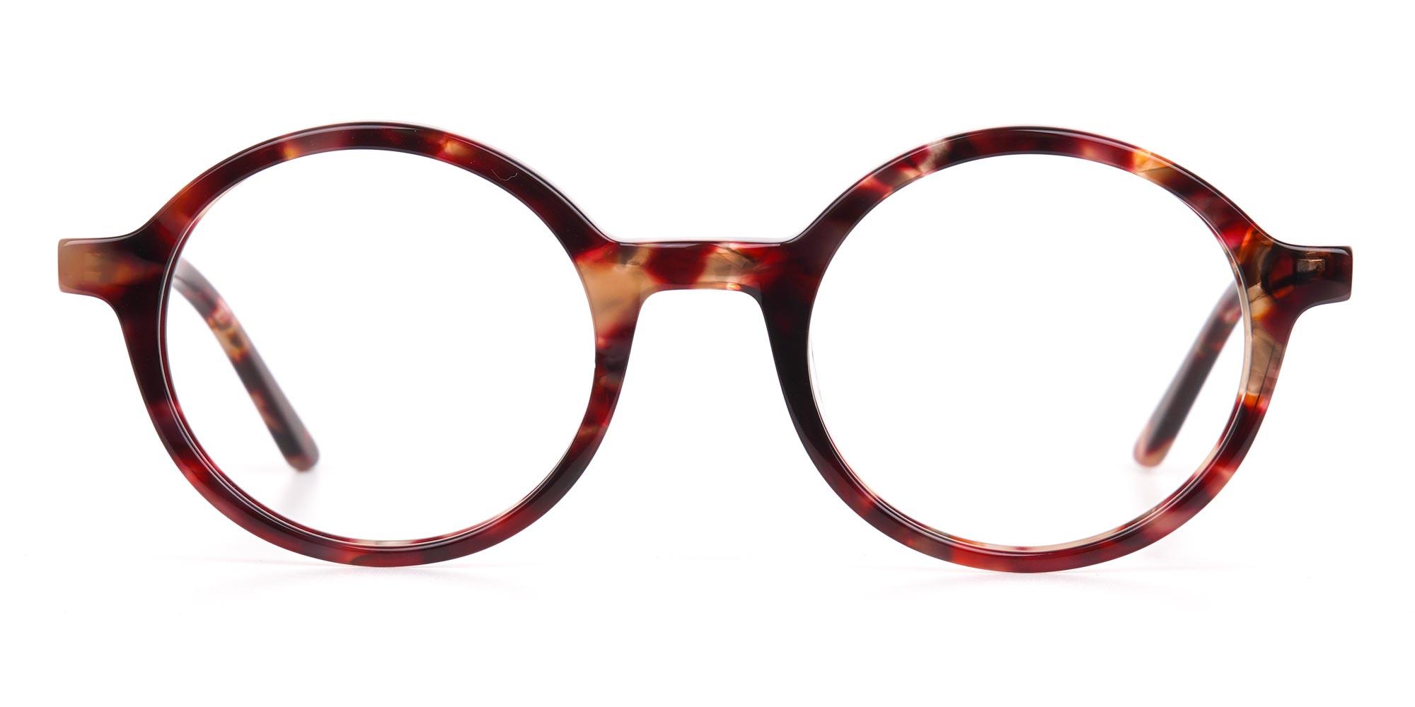 Brown Tortoise Round Eyeglasses
