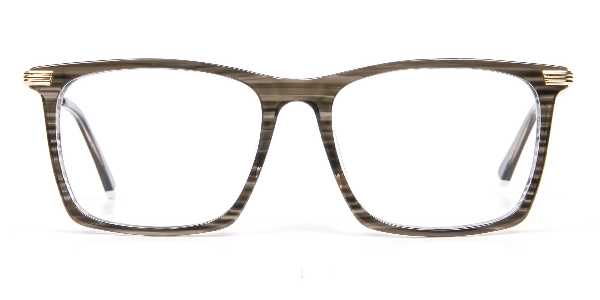 Black Wooden Textured Glasses
