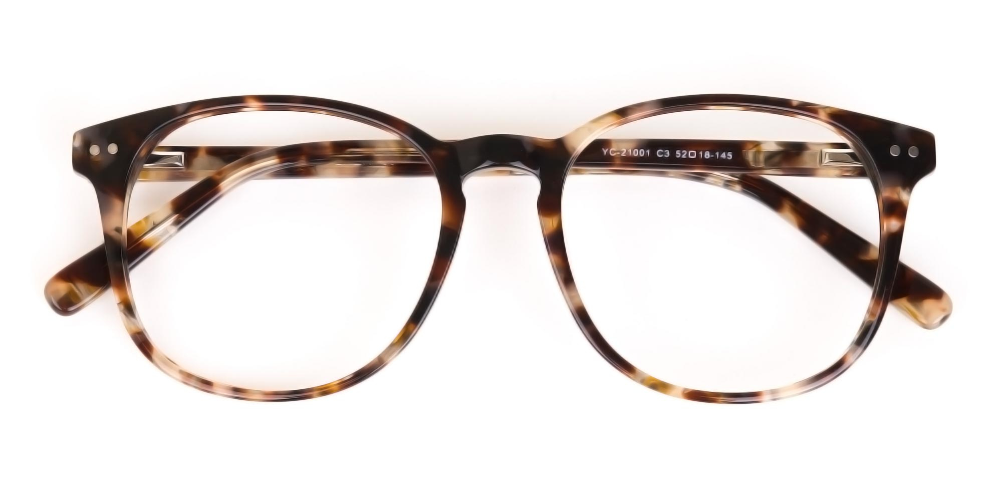 Oversized Glasses in Creamy Brown Tortoiseshell