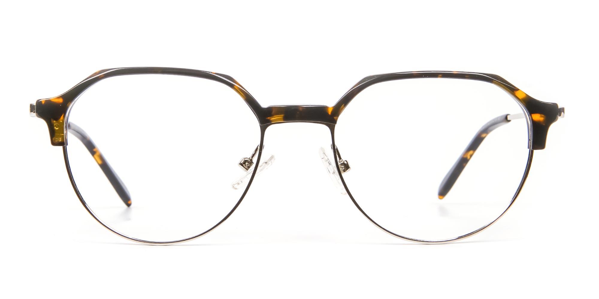 Tortoiseshell Browline Glasses