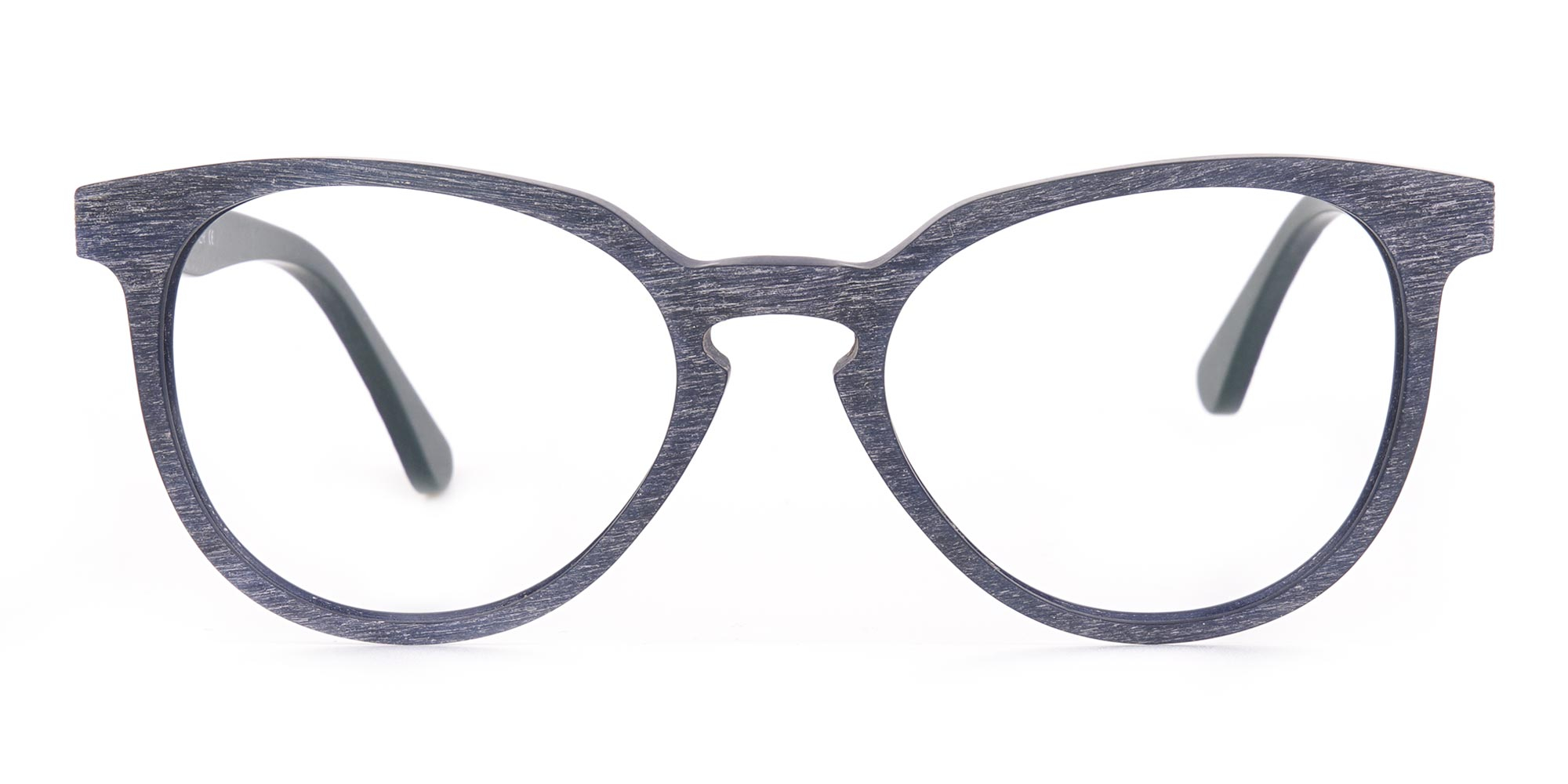 Dusty Green and Blue Wooden Glasses Frame
