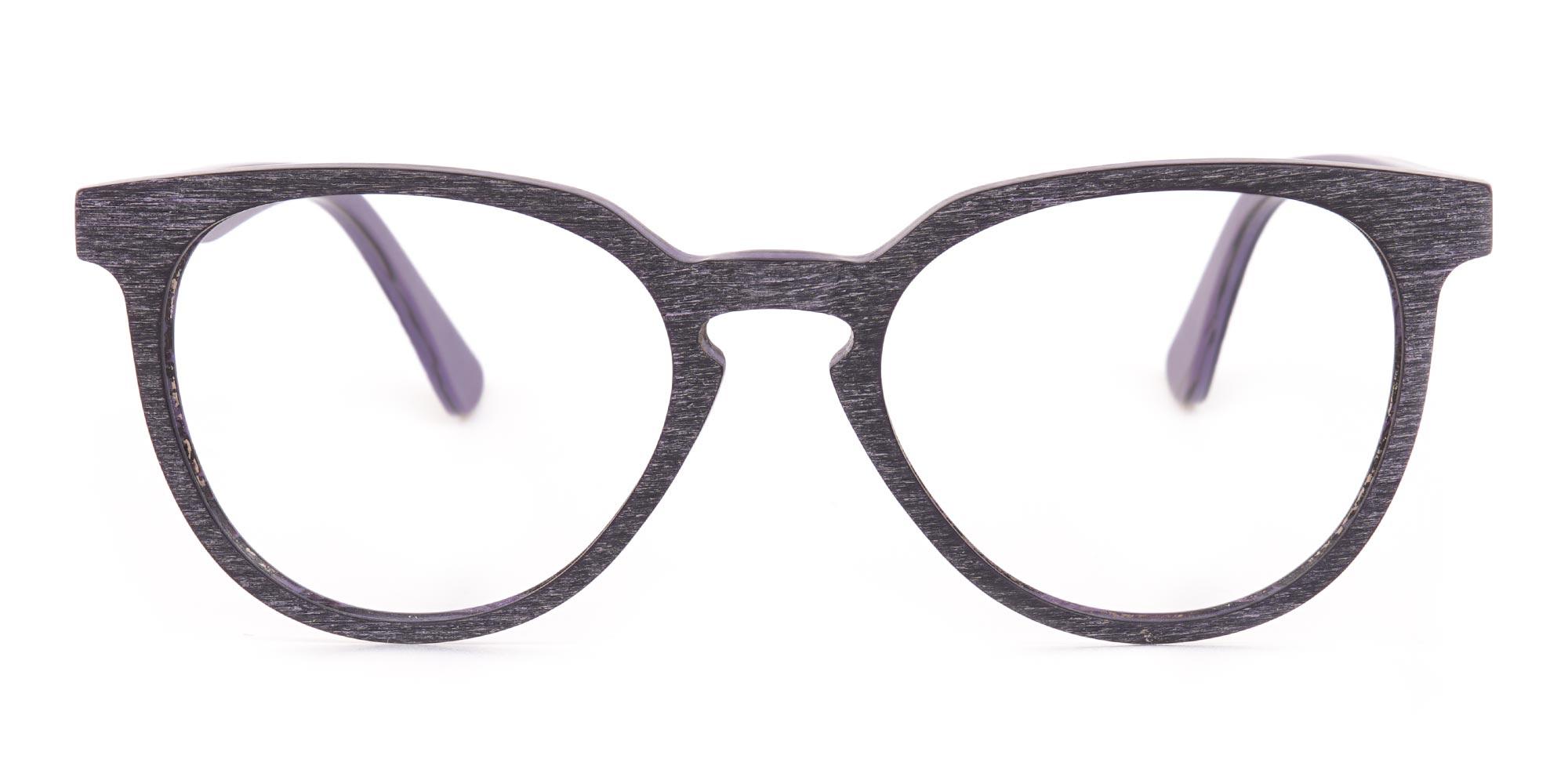 Wooden Glasses in Dark Purple
