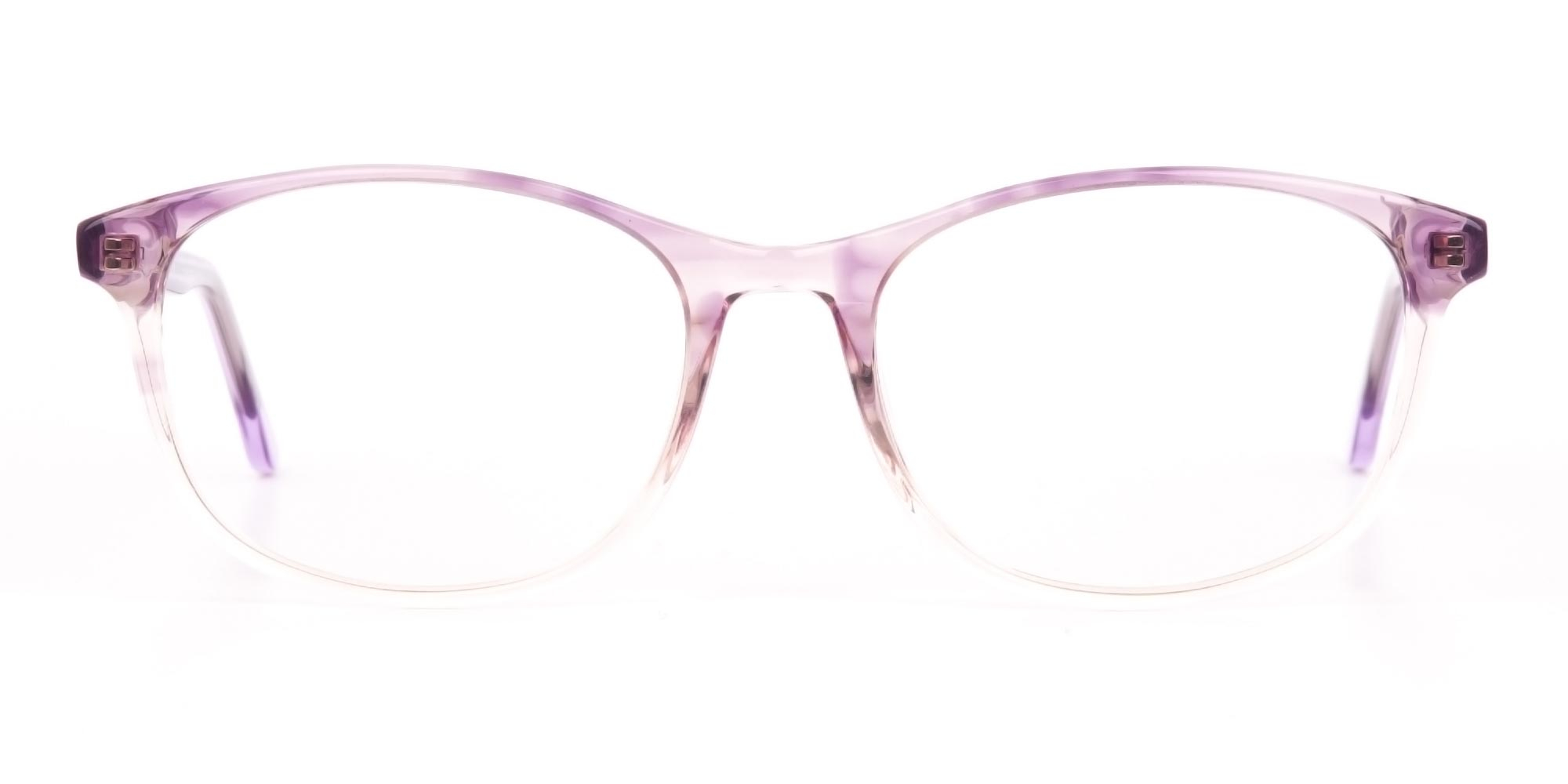 Crystal Purple Glasses in Two-Tone