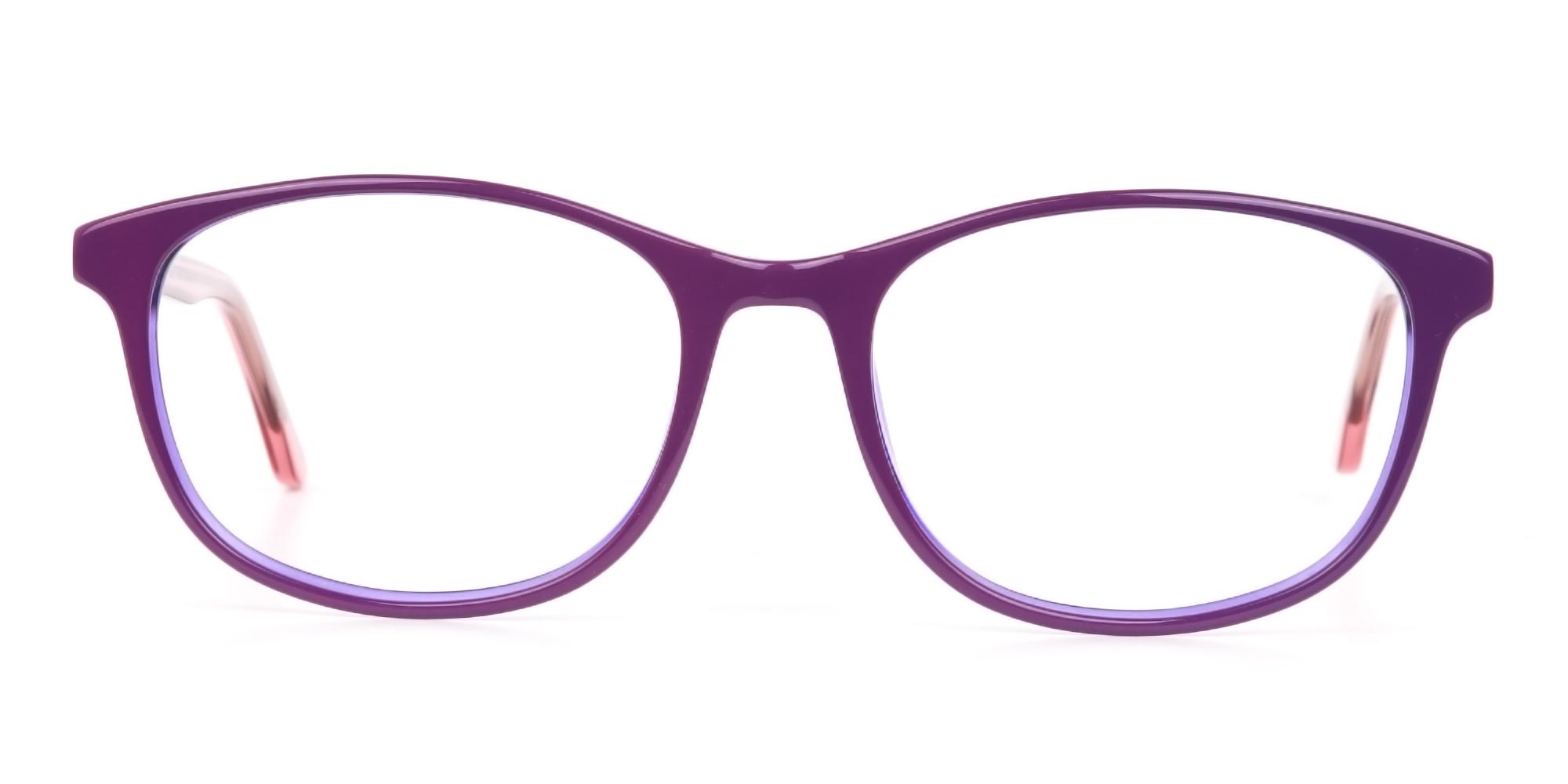 Crystal Eyeglasses in Raisin Purple and Rose Red