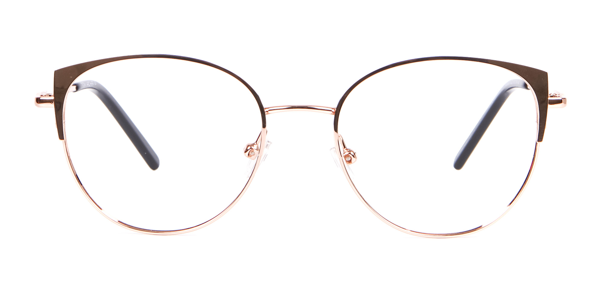 Rose Gold Glasses in Round and Cat-Eye glasses for triangle face shape