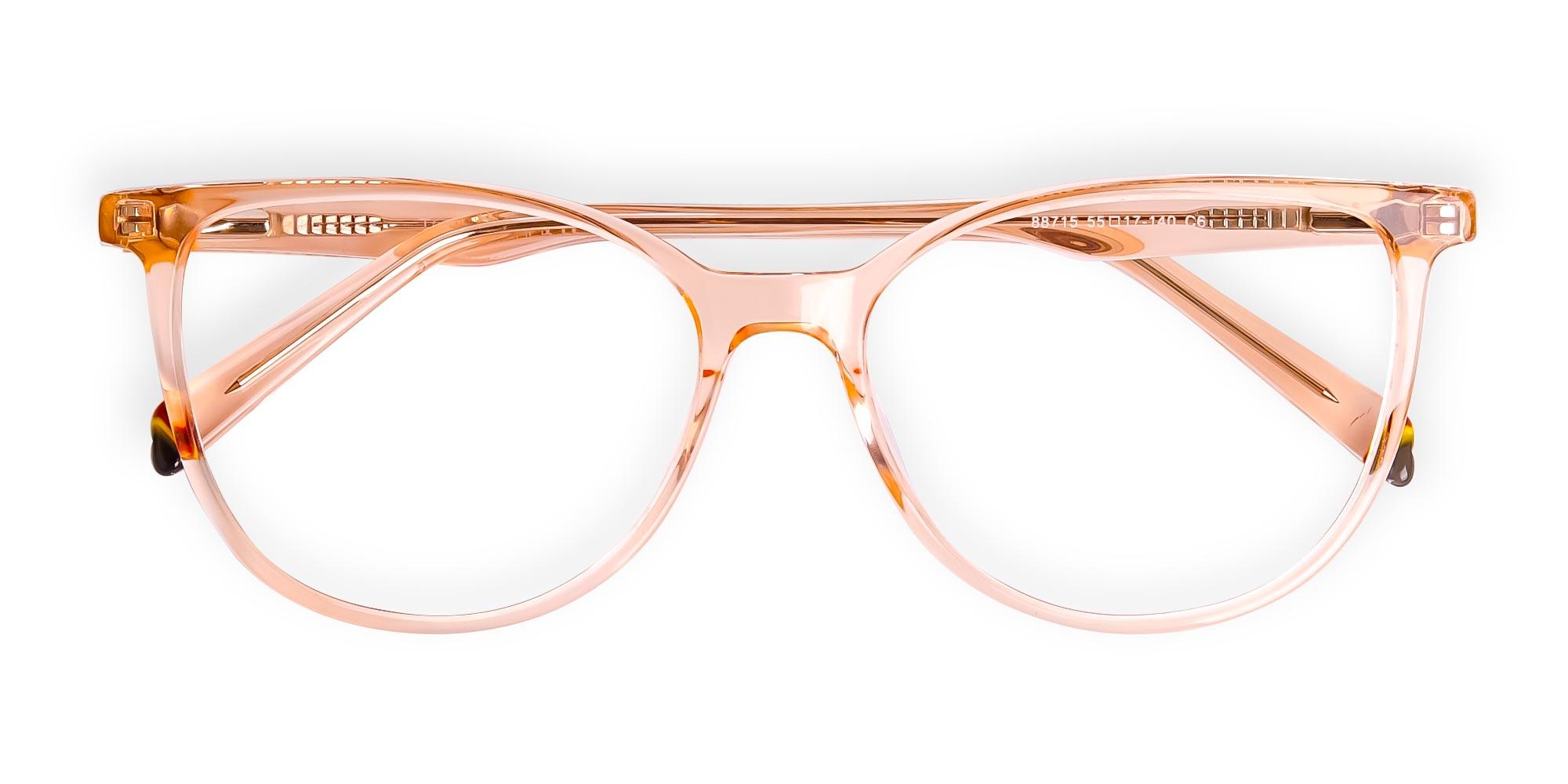 Brown Crystal Eyeglasses Wayfarer and Cat-Eye
