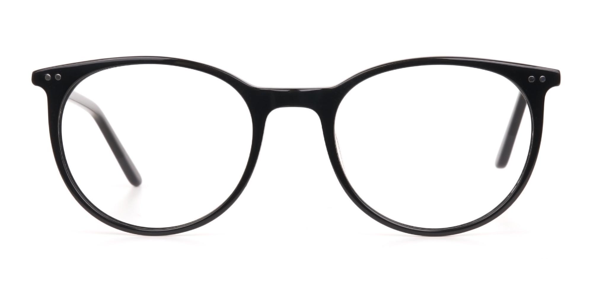 black glasses vintage eyewear trends