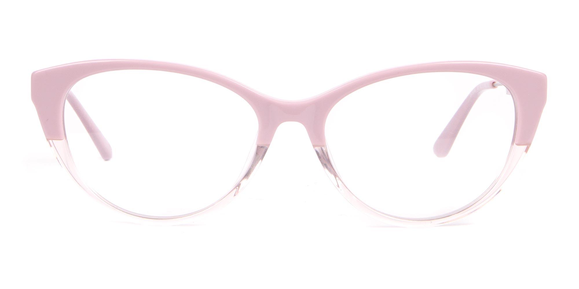 Calvin Klein Crystal Blush Pink Cat-Eye Glasses
