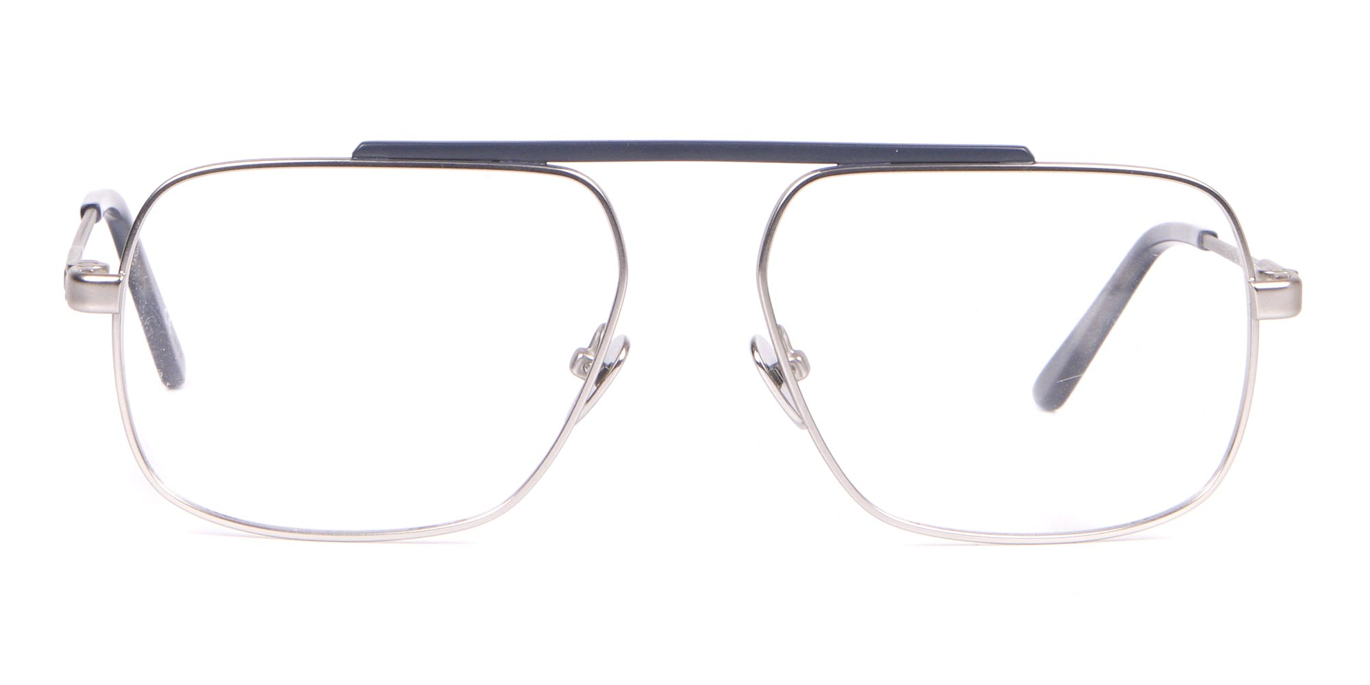 Calvin Klein Bridgeless Silver Glasses in Rectangular