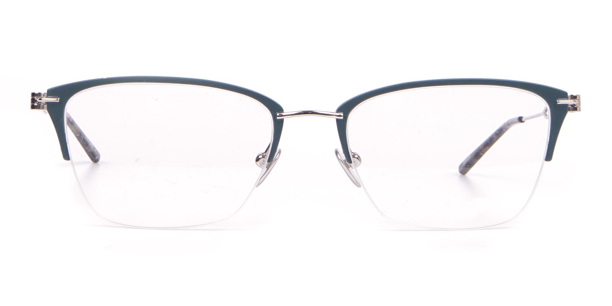Calvin Klein Matte Teal Glasses in Half-Rim