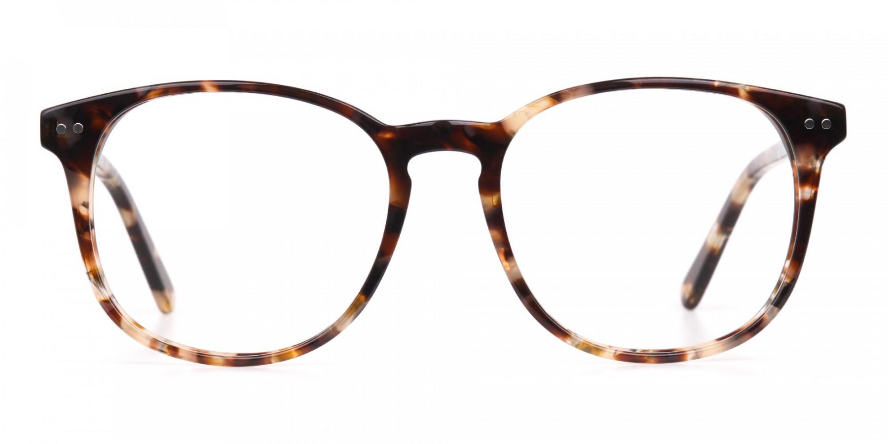 Tortoise Acetate Wayfarer Eyeglasses Unisex-1