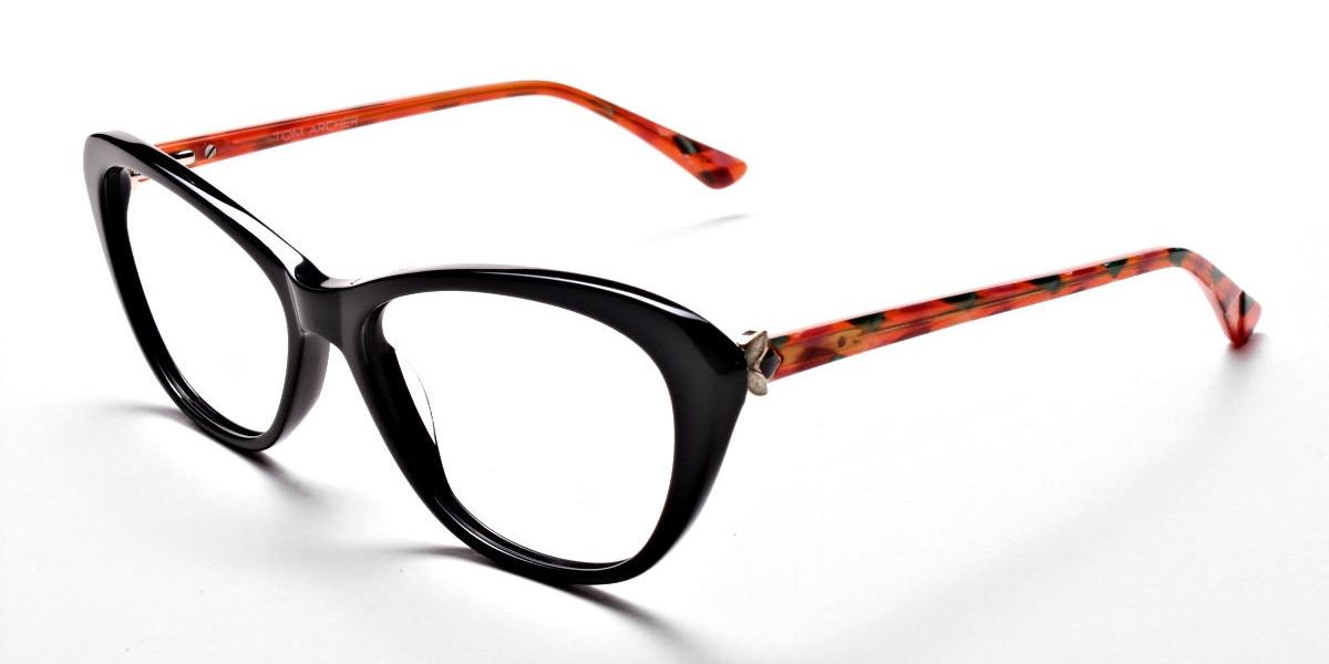 Cat Eye Two Tone with Black & Orange Frame