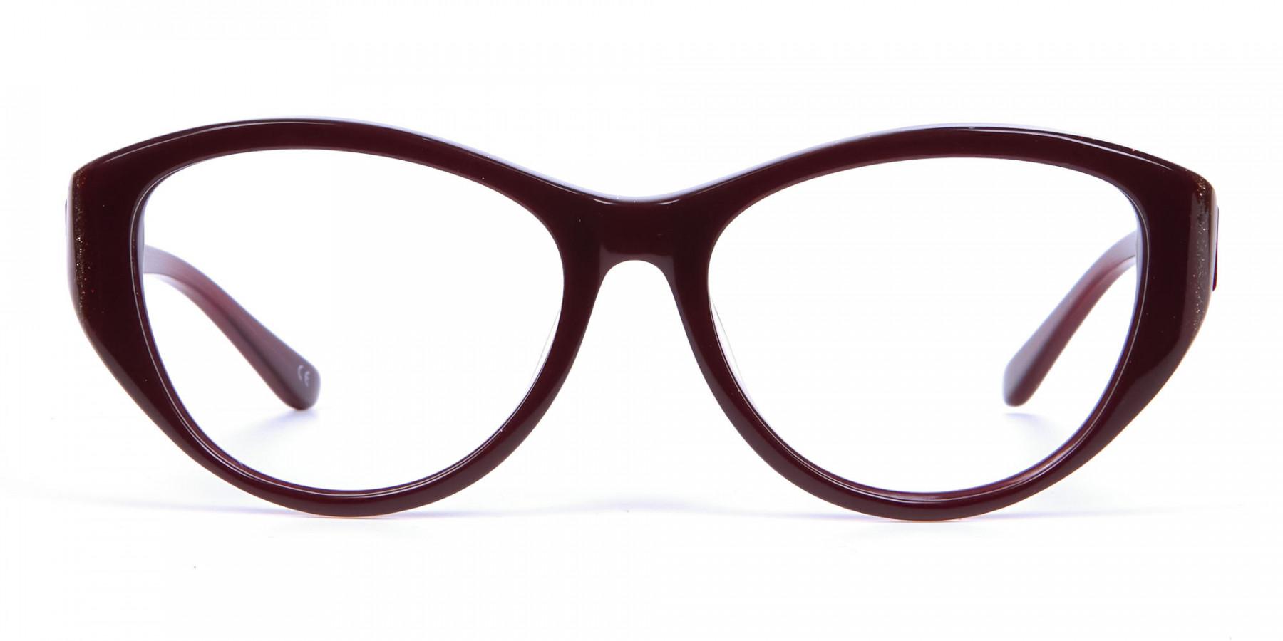 Burgundy Red Glasses