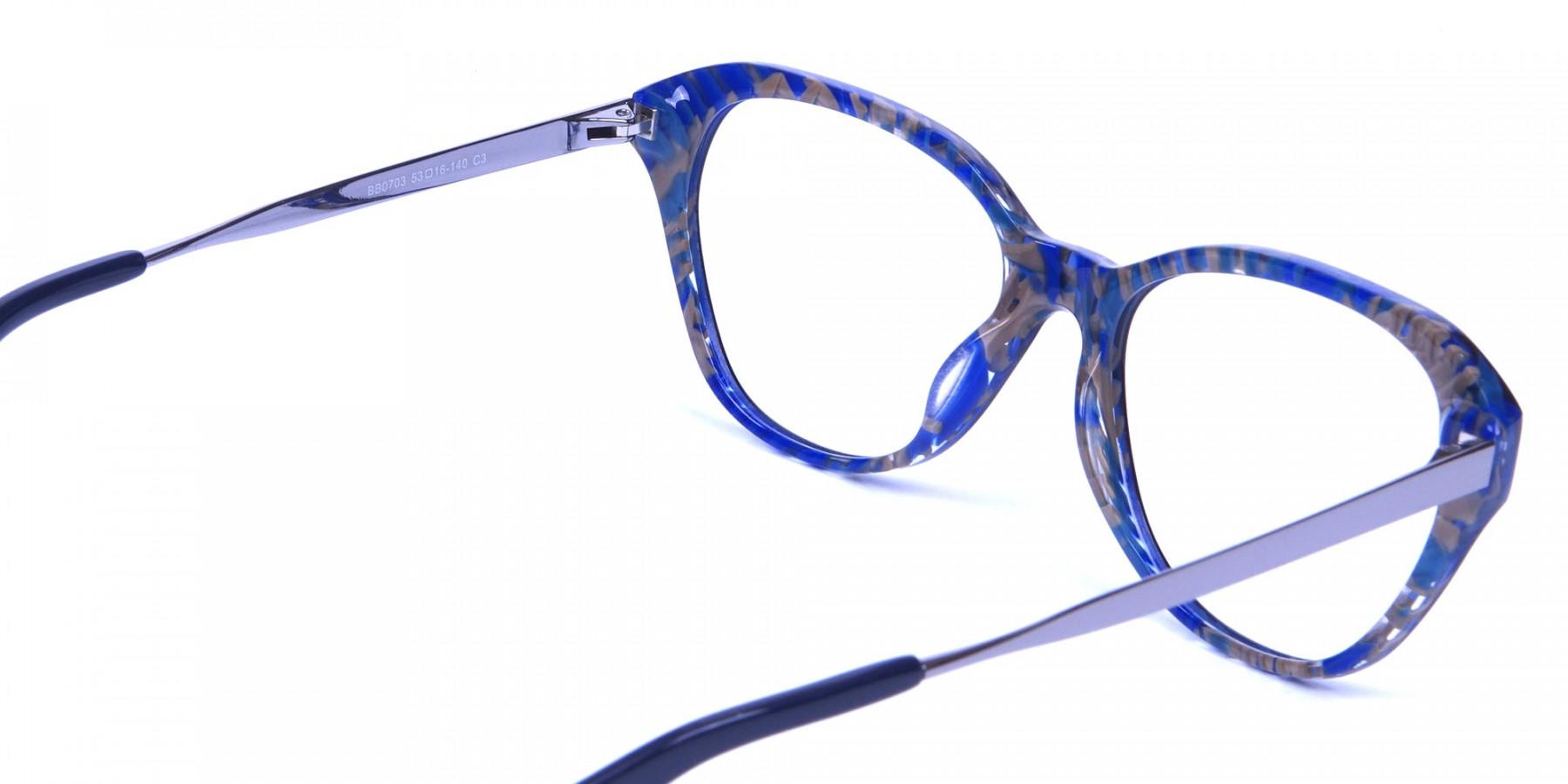 Dark Blue Cat Eye Frames