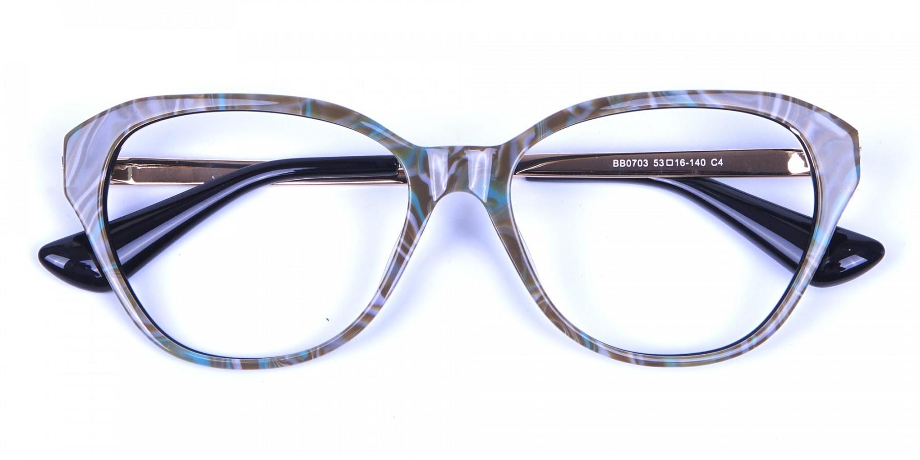 Jungle Green Glasses