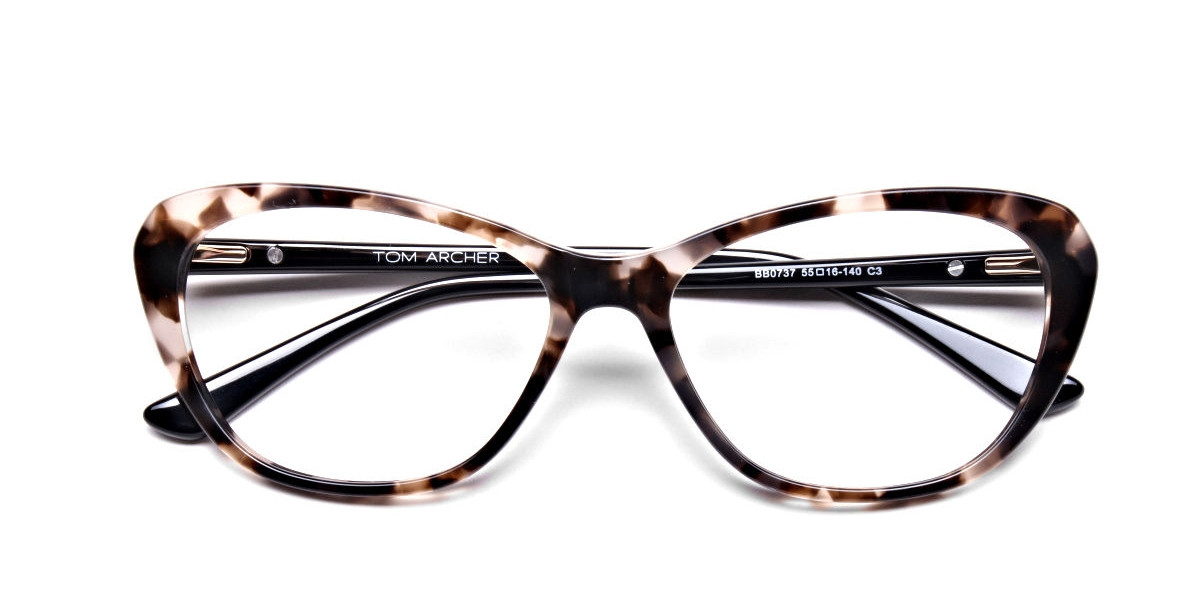 Cat Eye Transparent with Brown Accents