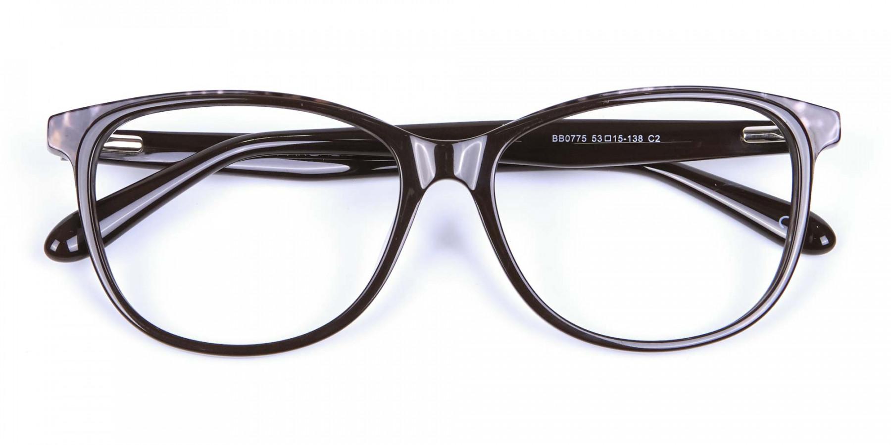 Leopard Brown Cat Eye Glasses for Women
