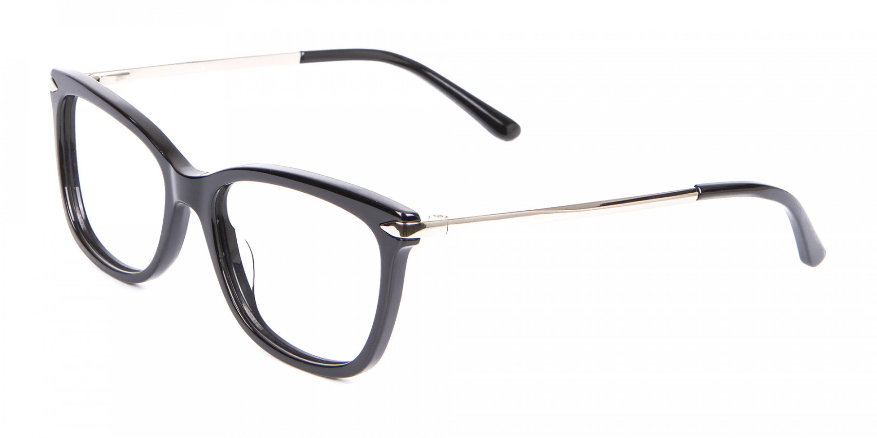 Ladies Mordern Rectangular Glasses in Black- 1