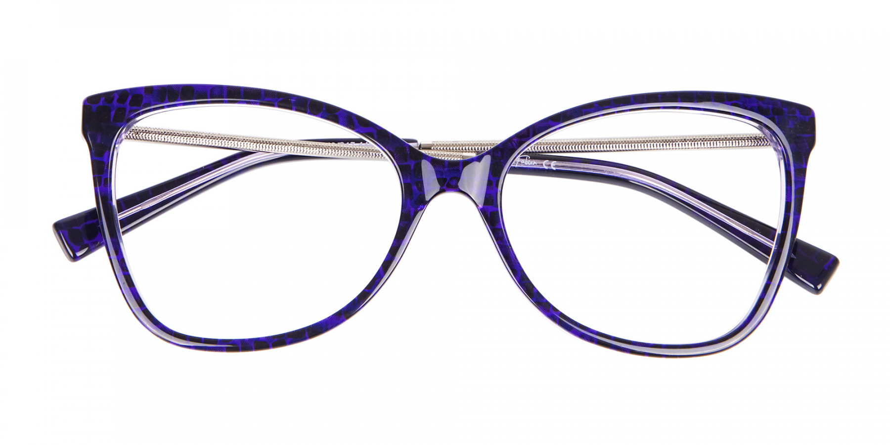 Woman's Purple Butterfly Frame with Patterns-1