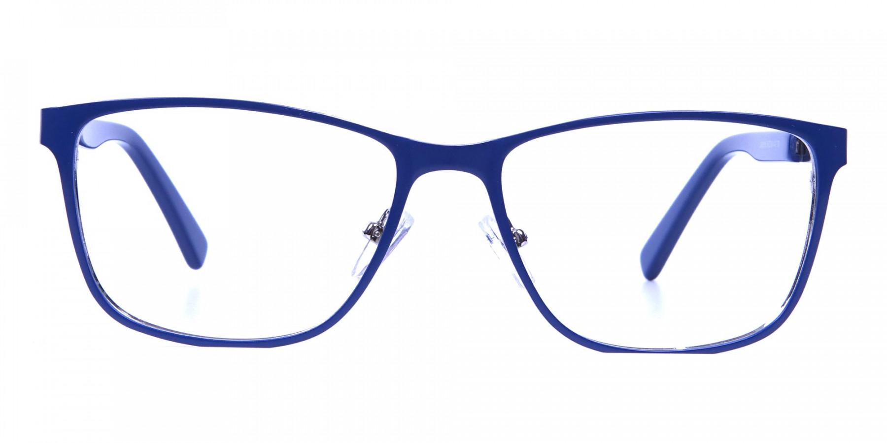 Blue Wide Frame Eyeglasses