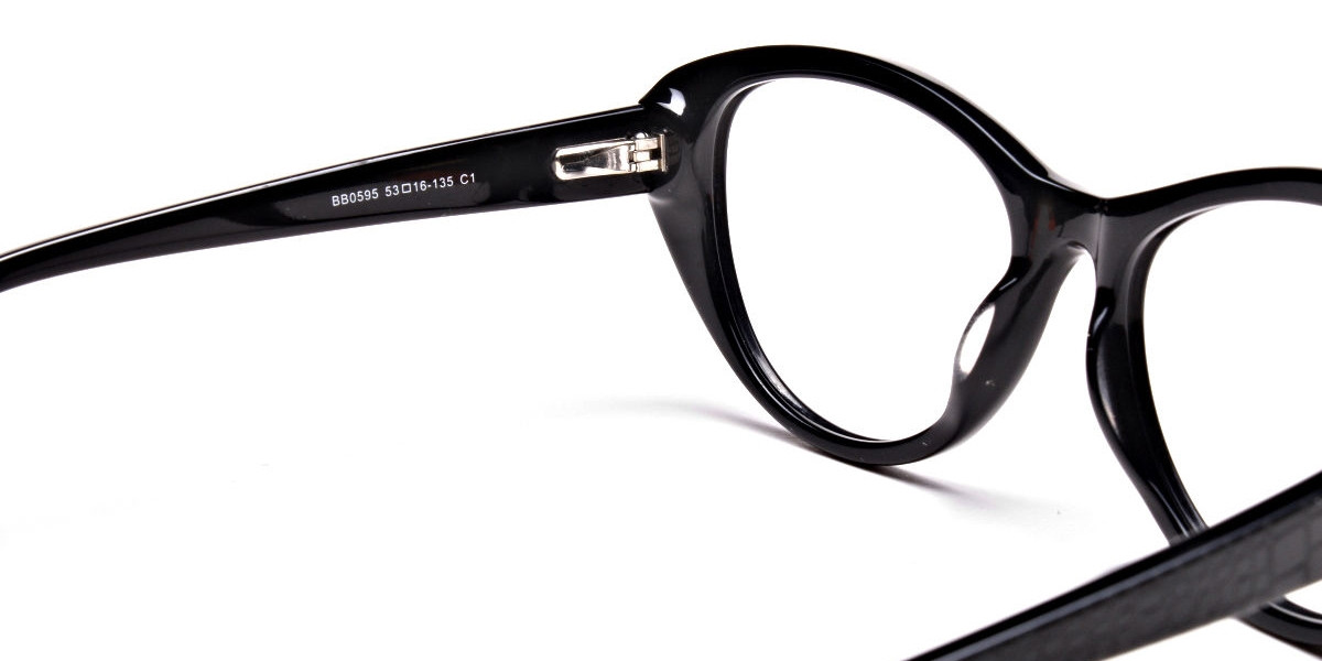 Glossy Black Glasses