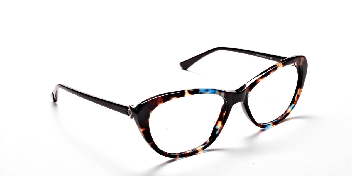 Cat Eye Glasses with Tortoiseshell Colour Textures