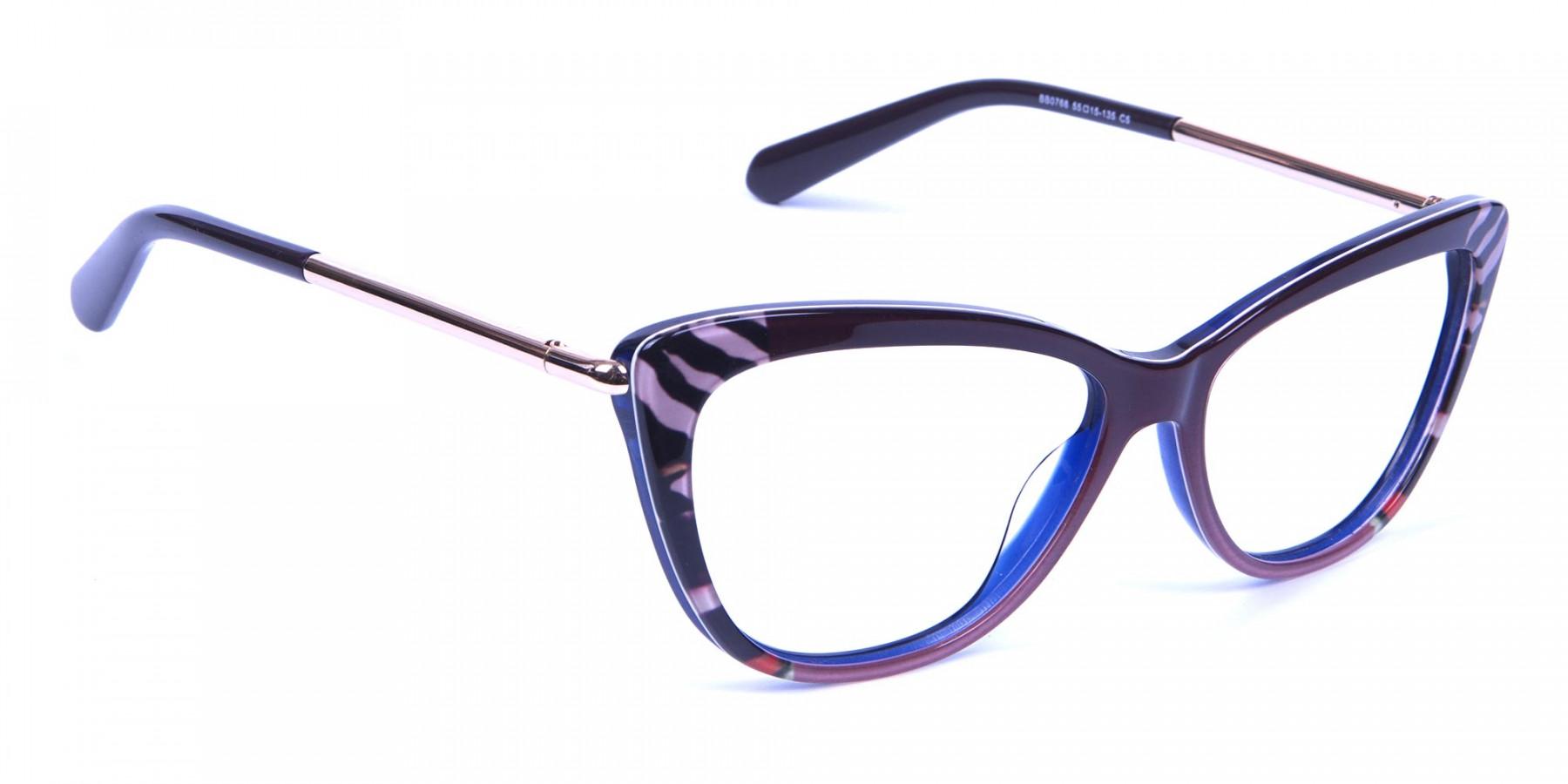 Gold Brown Zebra Glasses