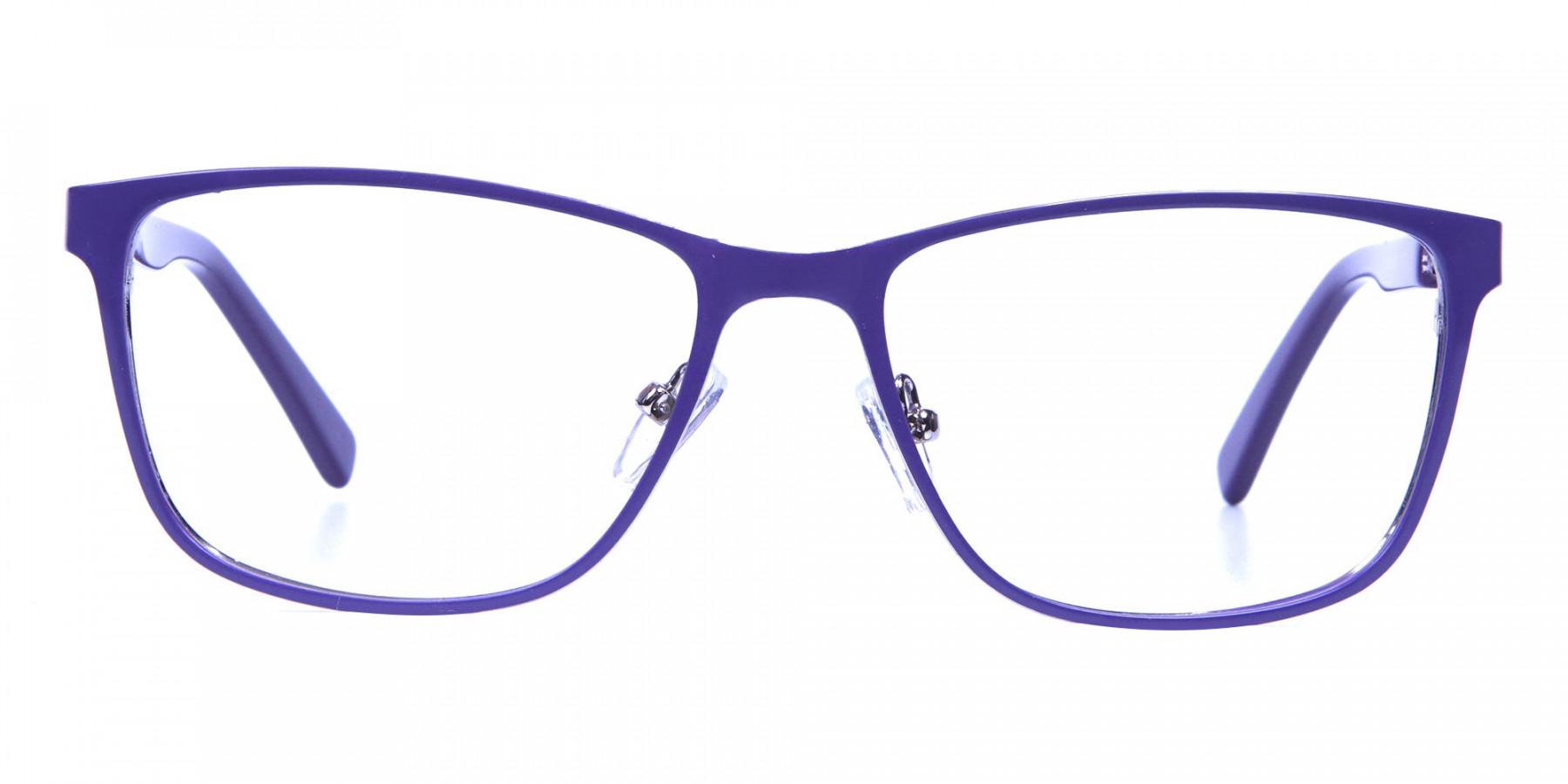 Purple Large Frame Glasses