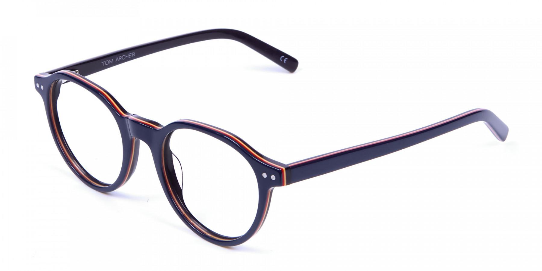 Black & Hints of Orange Eyeglasses