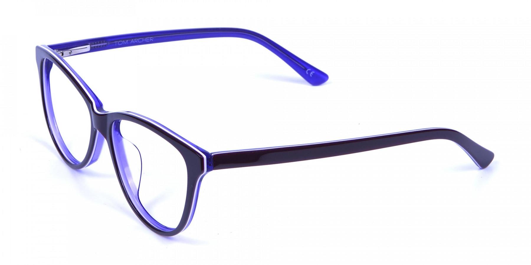 Women's Purple Cat Eye Glasses