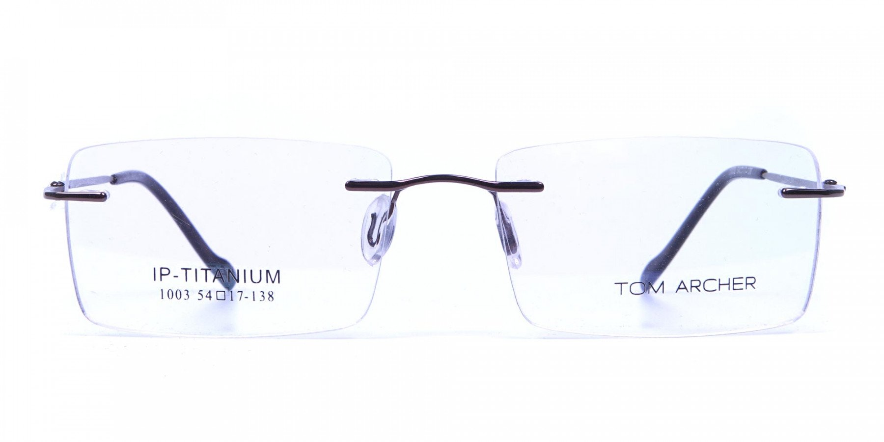 Rimless Glasses in Brown for Men & Women -1